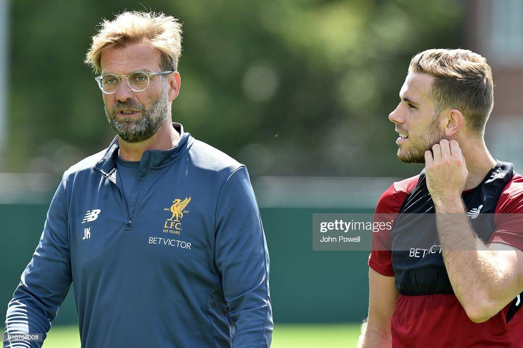 Liverpool Players Return After Summer Break : News Photo