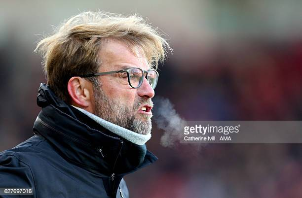 Jurgen Klopp manager / head coach of Liverpool during the Premier League match between AFC Bournemouth and Liverpool at Vitality Stadium on December...