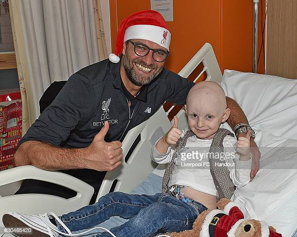 Jurgen Klopp manager of Liverpool at Alder Hey Children's Hospital on December 23 2016 in Liverpool England