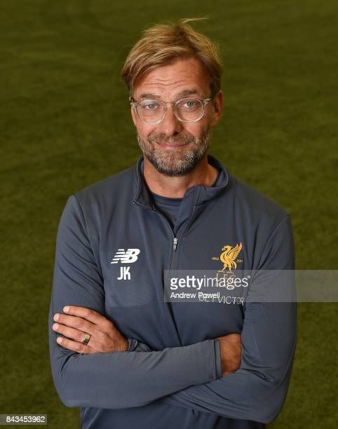 Jurgen Klopp manager of Liverpool at Melwood Training Ground on September 1 2017 in Liverpool England