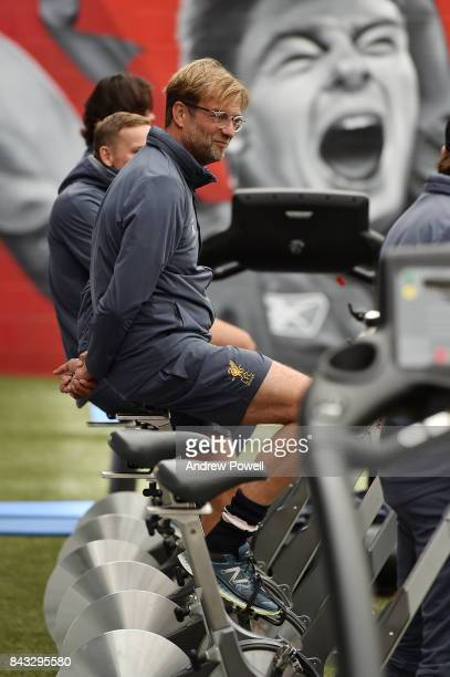 Jurgen Klopp manager of Liverpool at Melwood Training Ground on September 6 2017 in Liverpool England