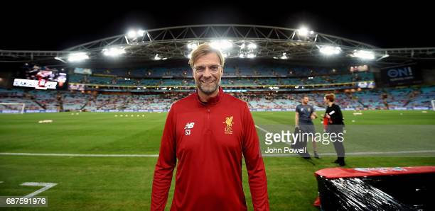 Jurgen Klopp manager of Liverpool before the International Friendly match between Sydney FC and Liverpool FC at ANZ Stadium on May 24 2017 in Sydney...
