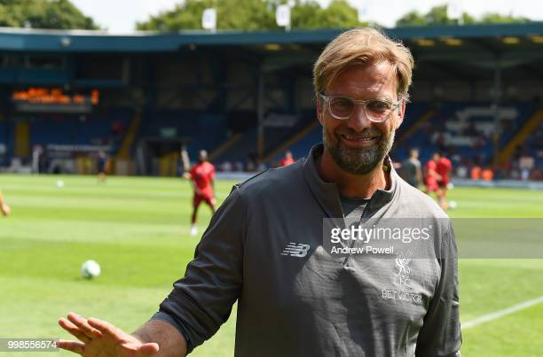 Jurgen Klopp manager of Liverpool before the PreSeason friendly match between Bury and Liverpool at Gigg Lane on July 14 2018 in Bury England