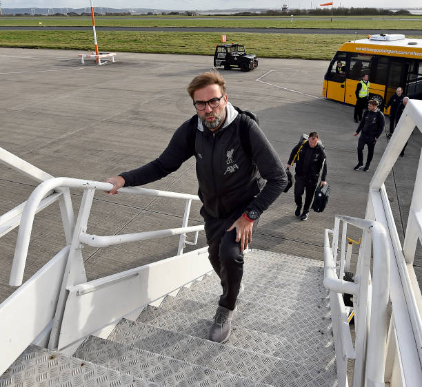 GBR: Liverpool FC Depart For Madrid