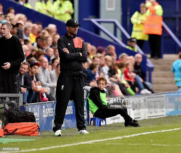 Jurgen Klopp manager of Liverpool during a PreSeason Friendly match between Tranmere Rovers and Liverpool at Prenton Park on July 8 2016 in...