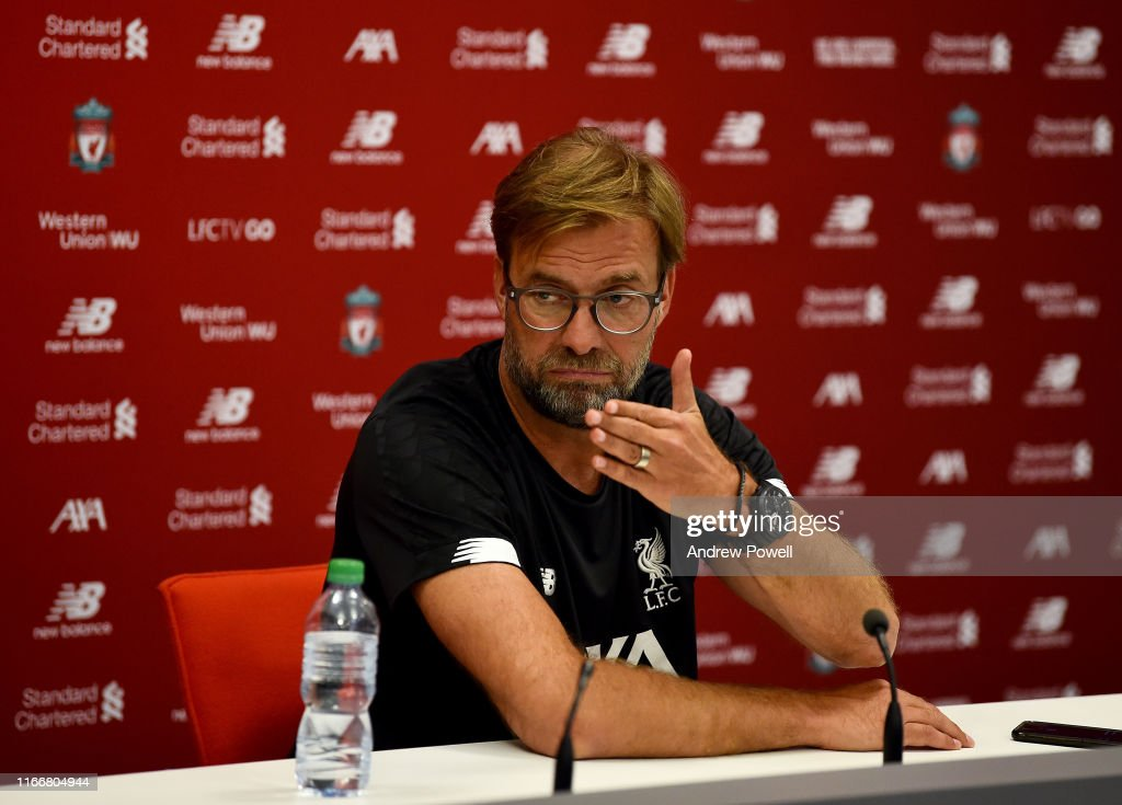 Liverpool FC Press Conference : News Photo