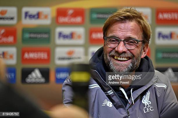 Jurgen Klopp manager of Liverpool during a Press Conference Training on April 6 2016 in Dortmund Germany