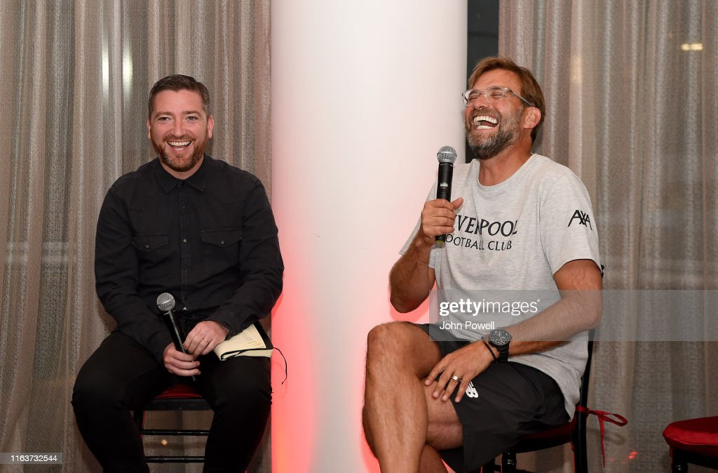 Jurgen Klopp Attends Q&A Session with Players : News Photo