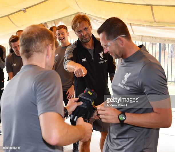 Jurgen Klopp manager of Liverpool during a tour of Roush Fenway Racing on July 21 2018 in Charlotte North Carolina