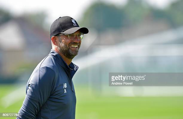 Jurgen Klopp manager of Liverpool during a training session at Melwood Training Ground on July 6 2017 in Liverpool England