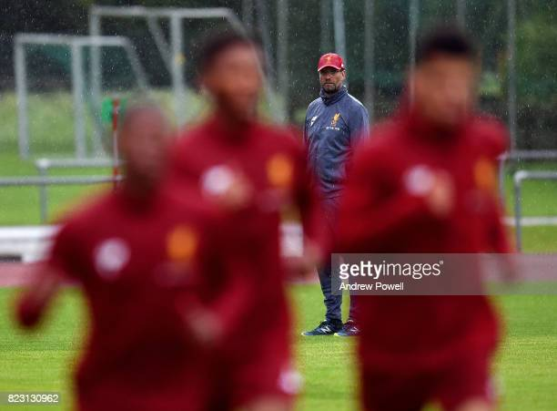 Jurgen Klopp manager of Liverpool during a training session at RottachEgern on July 26 2017 in Munich Germany