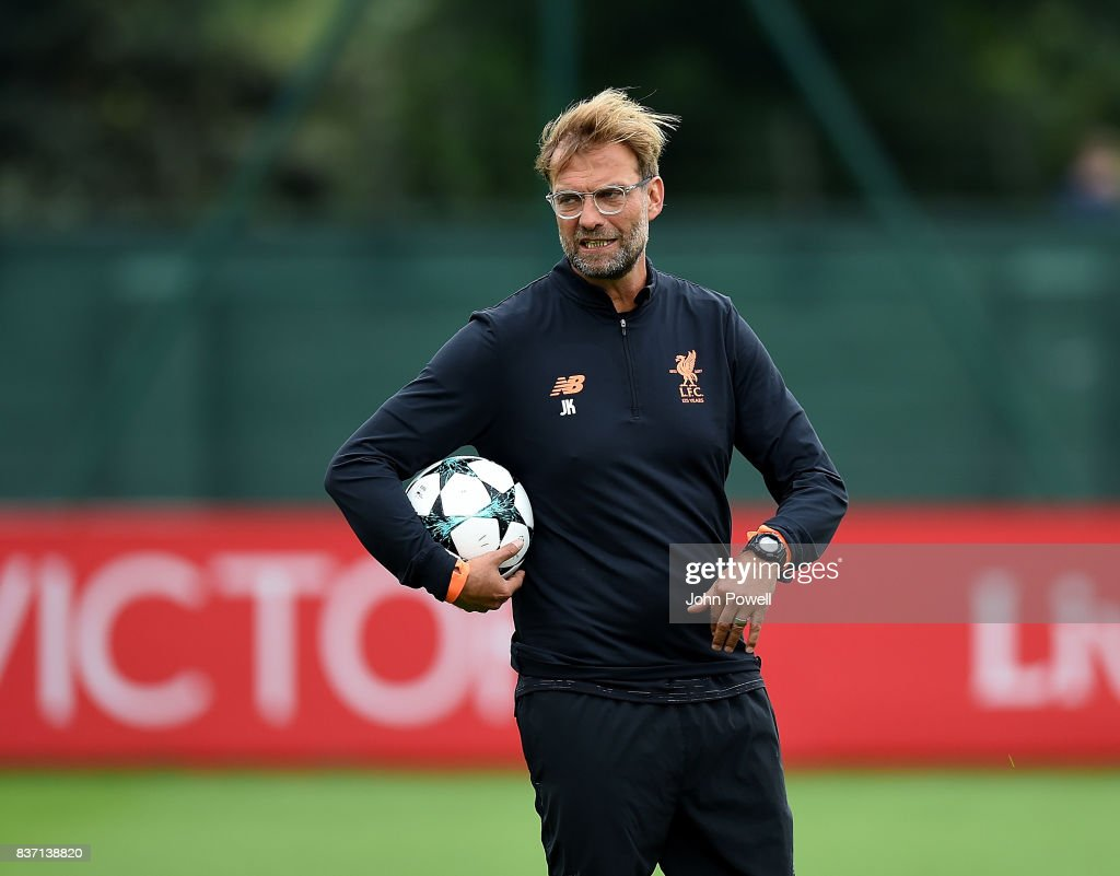 Liverpool FC Training Session and Press Conference : News Photo
