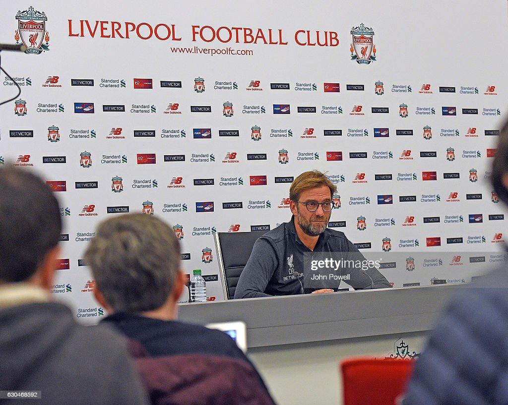 Jurgen Klopp Gives Press Conference : News Photo