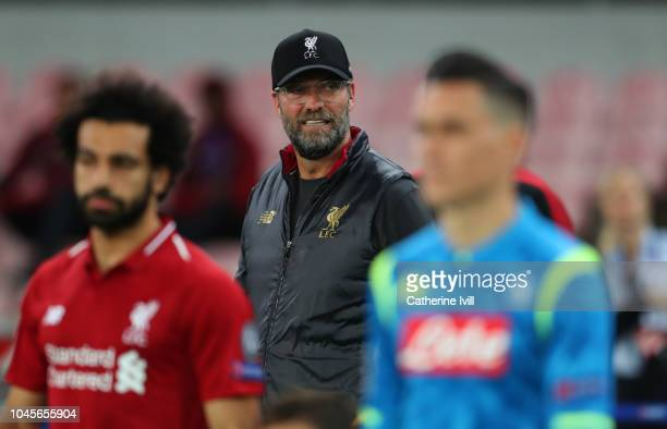 Jurgen Klopp manager of Liverpool during the Group C match of the UEFA Champions League between SSC Napoli and Liverpool at Stadio San Paolo on...