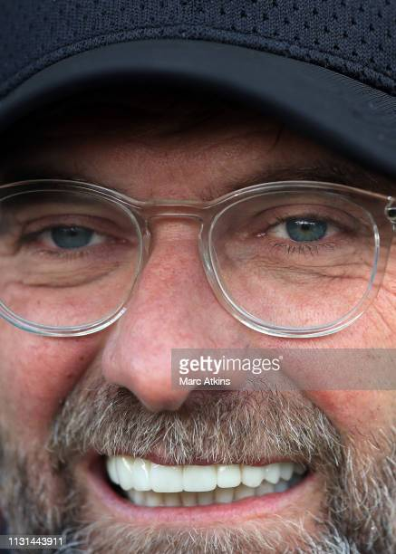 Jurgen Klopp manager of Liverpool during the Premier League match between Fulham FC and Liverpool FC at Craven Cottage on March 17 2019 in London...