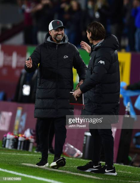 Jurgen Klopp manager of Liverpool during the Premier League match between Burnley and Liverpool at Turf Moor on May 19, 2021 in Burnley, England.