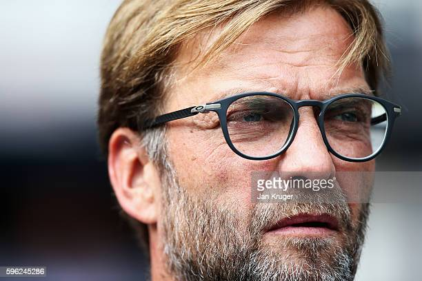 Jurgen Klopp Manager of Liverpool during the Premier League match between Tottenham Hotspur and Liverpool at White Hart Lane on August 27 2016 in...
