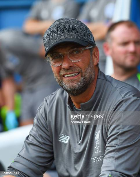 Jurgen Klopp manager of Liverpool during the PreSeason friendly match between Bury and Liverpool at Gigg Lane on July 14 2018 in Bury England
