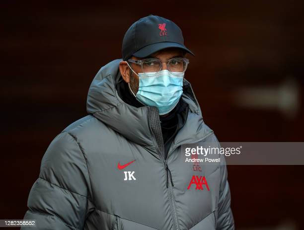 Jurgen Klopp manager of Liverpool during the training session at Melwood Training Ground on October 26 2020 in Liverpool England