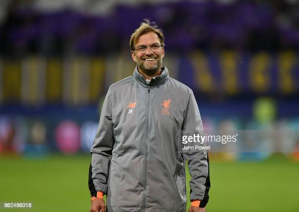 Jurgen Klopp manager of Liverpool during the UEFA Champions League group E match between NK Maribor and Liverpool FC at Stadion Ljudski vrt on...