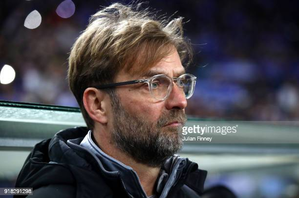 Jurgen Klopp Manager of Liverpool during the UEFA Champions League Round of 16 First Leg match between FC Porto and Liverpool at Estadio do Dragao on...