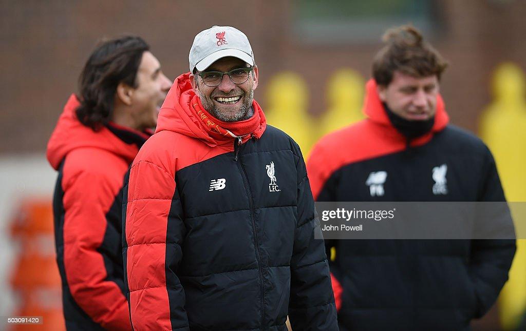Liverpool FC Training : Nachrichtenfoto