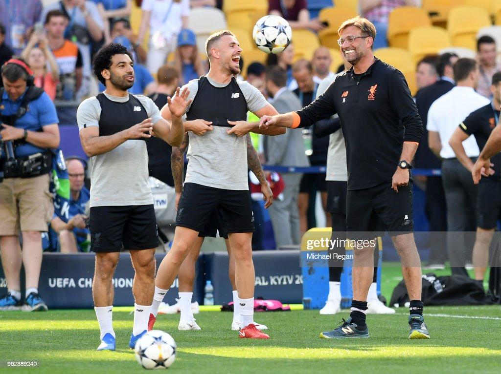 e45deab2a2dafb Liverpool Training Session - UEFA Champions League Final Previews   News  Photo