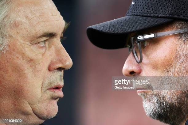 Jurgen Klopp, Manager of Liverpool looks on during the Premier League match between Sheffield United and Liverpool FC at Bramall Lane on September...