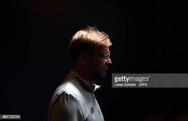 Jurgen Klopp, Manager of Liverpool looks on in the tunnel prior to the UEFA Champions League Final between Real Madrid and Liverpool at NSC...