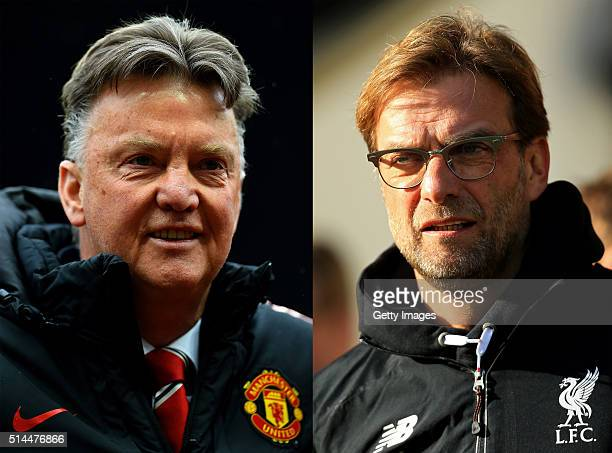 PHOTO Image Numbers 471955028 and 506385652 In this composite image a comparison has been made between Jurgen Klopp manager of Liverpool and Louis...