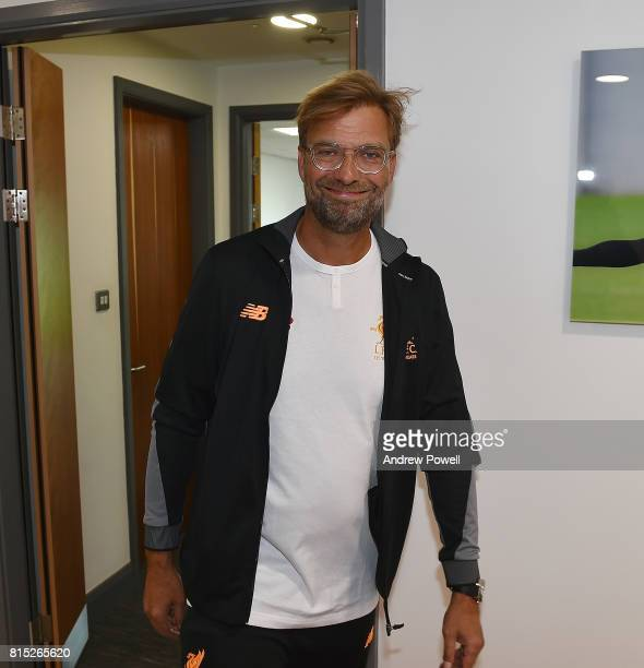 Jurgen Klopp manager of Liverpool prepare their pre season tour at Melwood Training Ground on July 16 2017 in Liverpool England