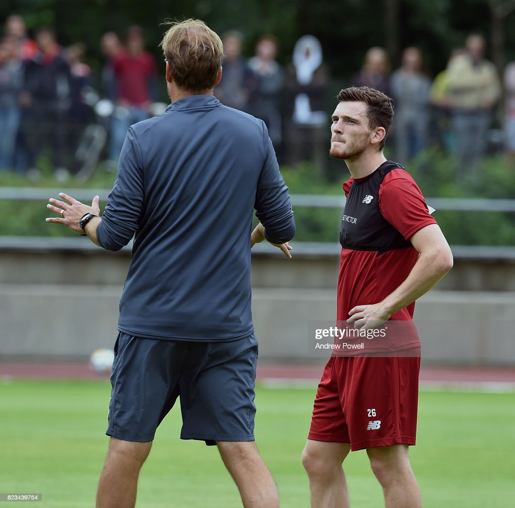 Liverpool FC Training Session in Germany : News Photo