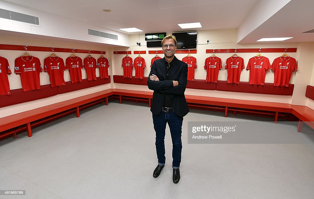Jurgen Klopp new manager of Liverpool at Anfield on October 9, 2015 in Liverpool, England.