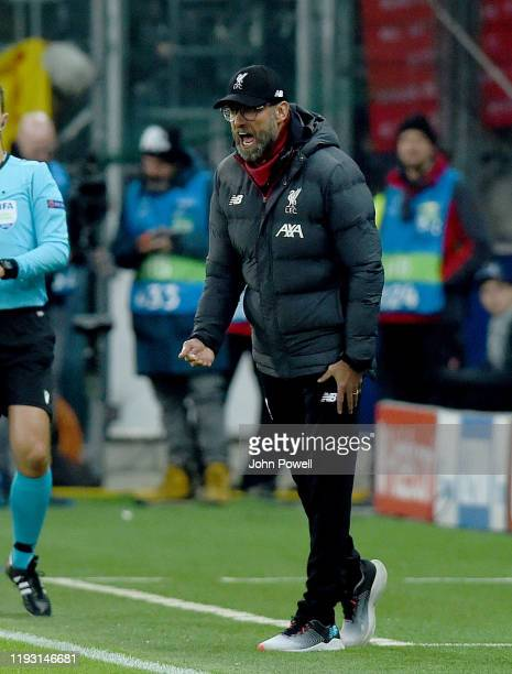Jurgen Klopp of Liverpool during the UEFA Champions League group E match between RB Salzburg and Liverpool FC at Red Bull Arena on December 10 2019...