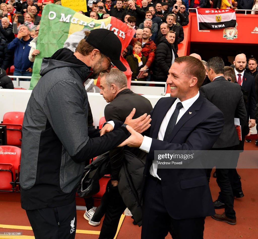 Liverpool FC v Leicester City - Premier League : Nachrichtenfoto