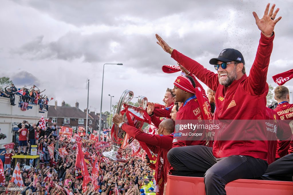 Liverpool Parade to Celebrate Winning UEFA Champions League : News Photo