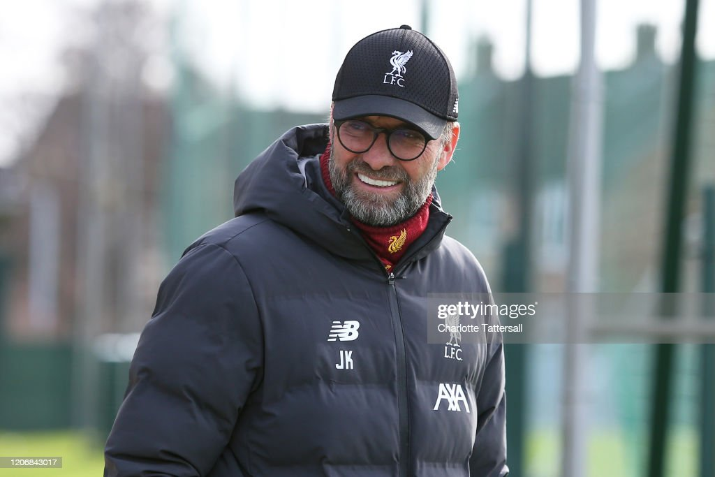 Liverpool FC Training Session and Press Conference : Nachrichtenfoto