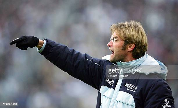 Jurgen Klopp, Tainer of Mainz during The Bundesliga match between Hamburg SV and FSV Mainz 05 at The AOL Arena on January 29, 2005 in Hamburg,...