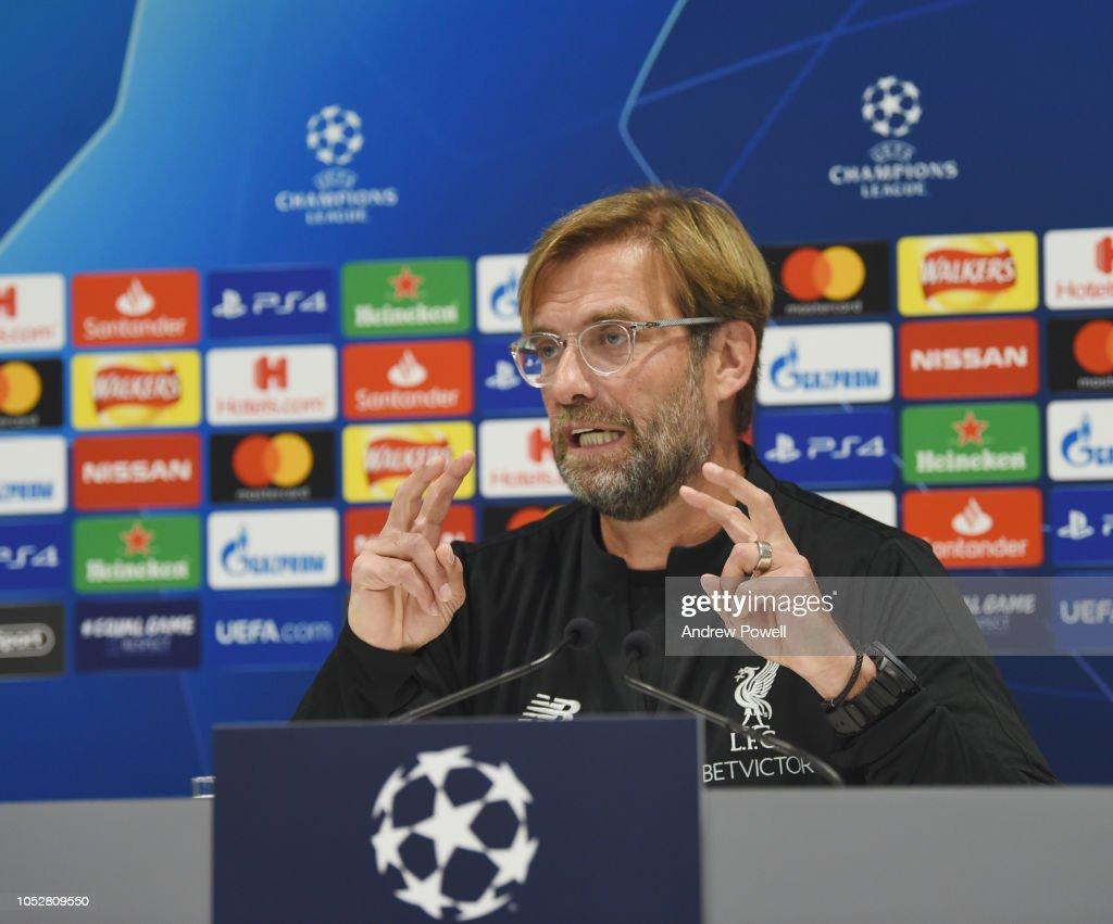 Liverpool Training & Press Conference : News Photo