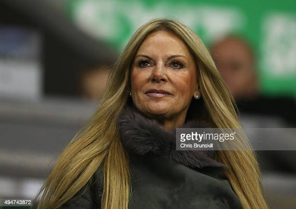Jurgen Klopp's wife Ulla attends the Capital One Cup Fourth Round match between Liverpool and AFC Bournemouth at Anfield on October 28 2015 in...