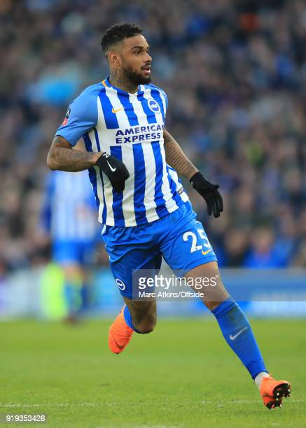 Jurgen Locadia of Brighton and Hove Albion during the FA Cup Fifth Round match between Brighton and Hove Albion and Coventry City at Amex Stadium on...
