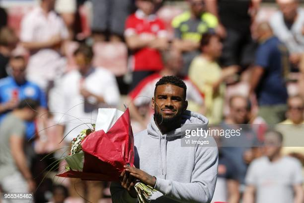 Jurgen Locadia of Brighton during the Dutch Eredivisie match between PSV Eindhoven and FC Groningen at the Phillips stadium on May 06 2018 in...