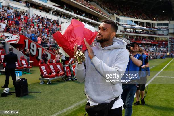 Jurgen Locadia of Brighton Hove Albion during the Dutch Eredivisie match between PSV v FC Groningen at the Philips Stadium on May 6 2018 in Eindhoven...