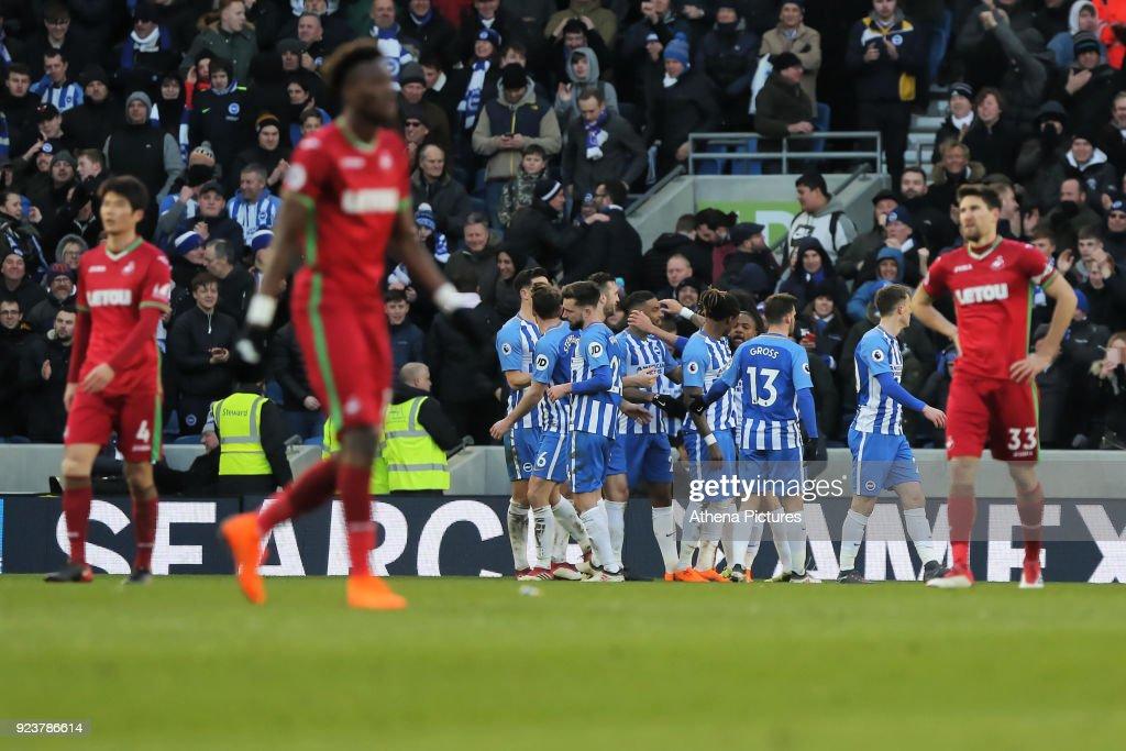 Brighton and Hove Albion v Swansea City - Premier League : News Photo