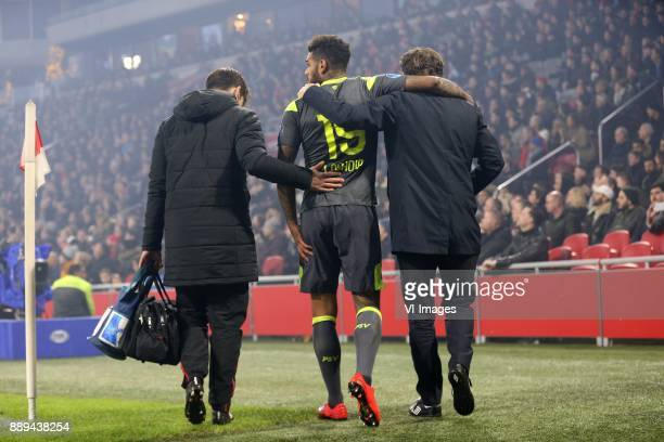 Jurgen Locadia of PSV during the Dutch Eredivisie match between Ajax Amsterdam and PSV Eindhoven at the Amsterdam Arena on December 10 2017 in...