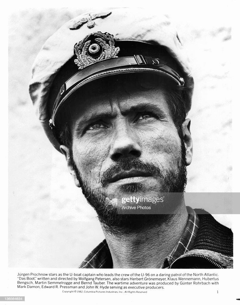 Jurgen Prochnow stars as the U-boat captain in a scene ...