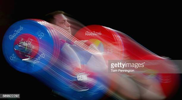 Jurgen Spiess of Germany competes during the Weightlifting Men's 105kg Group B at Riocentro Pavilion 2 on August 15 2016 in Rio de Janeiro Brazil