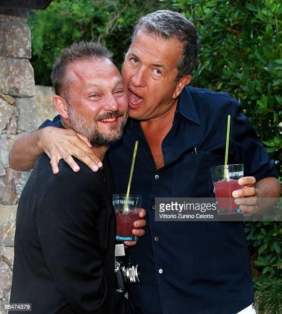 Jurgen Teller and Mario Testino attend Il Pellicano Summer Party with Jurgen Teller held at the Hotel Il Pellicano on June 13 2009 in Porto Ercole...