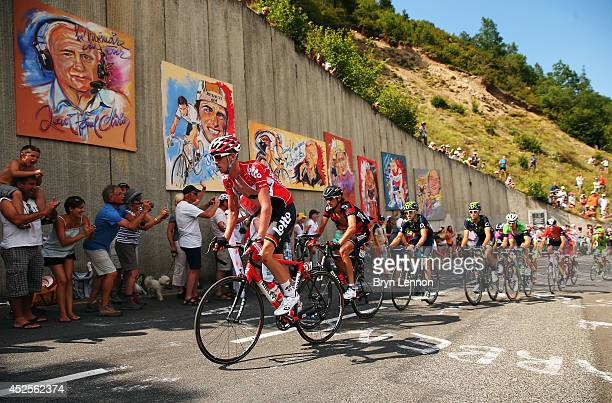 Jurgen Van Den Broeck of Belgium and Lotto Belisol in action during the seventeenth stage of the 2014 Tour de France, a 125km stage between...
