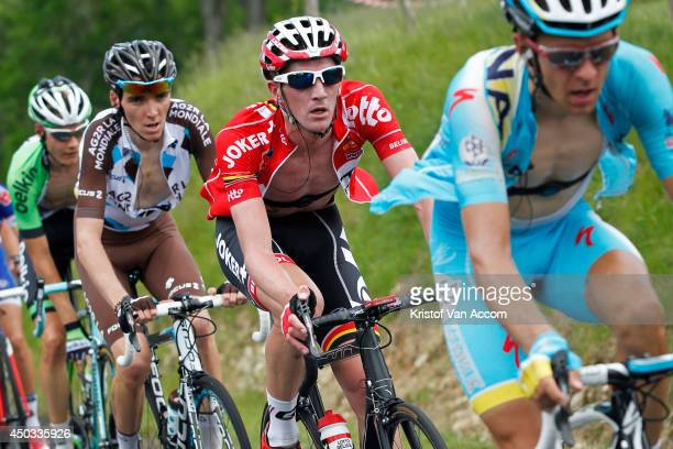 Jurgen Van Den Broeck of Belgium and Team Lotto pictured at the Col du Beal during the second stage of the Criterium du Dauphine, on June 9, 2014...